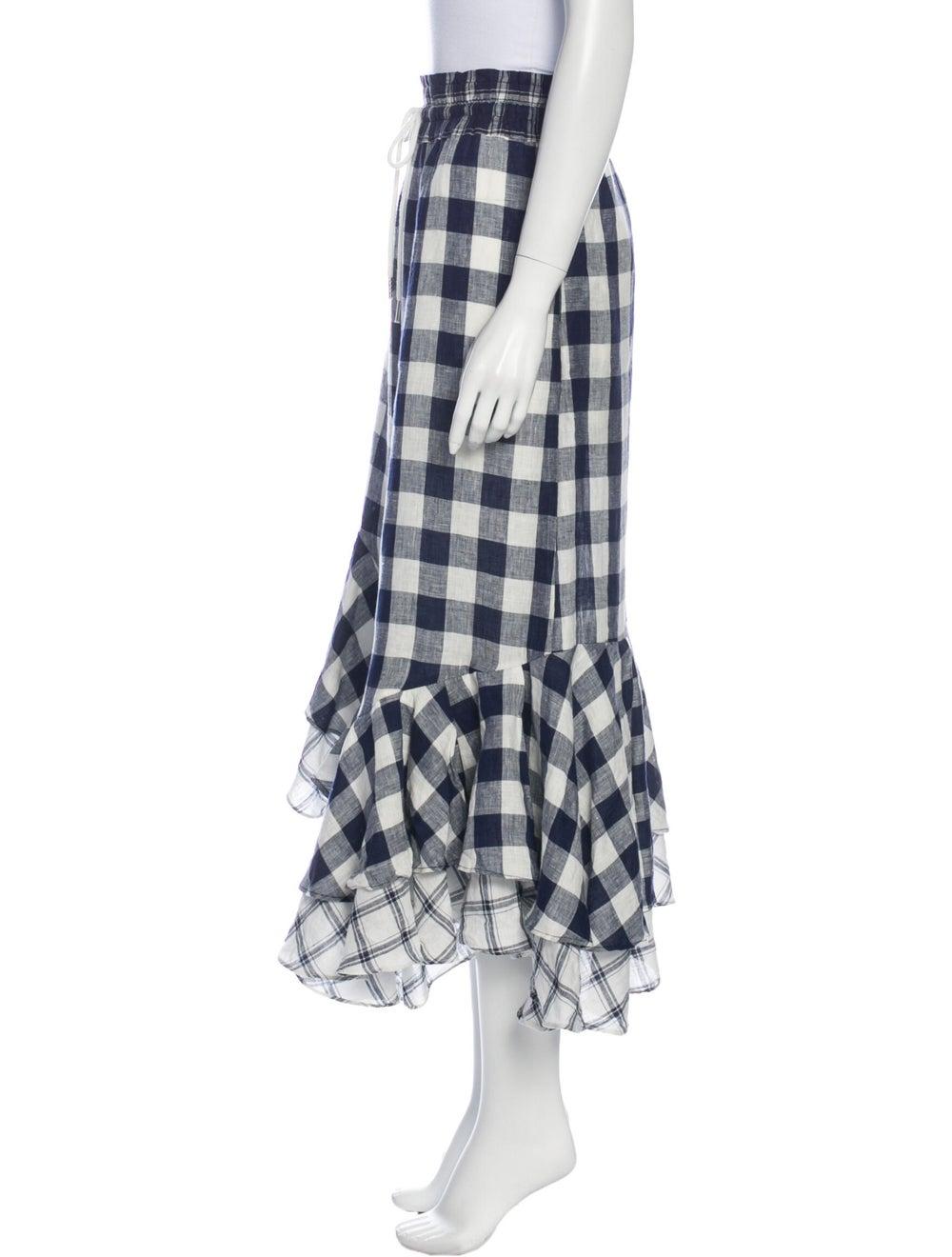 Lee Mathews Linen Midi Length Skirt White - image 2