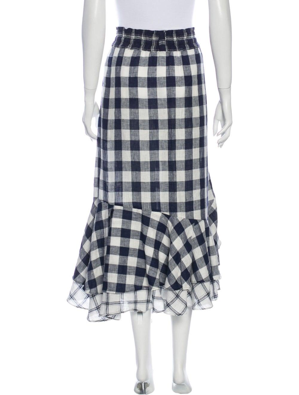 Lee Mathews Linen Midi Length Skirt White - image 3