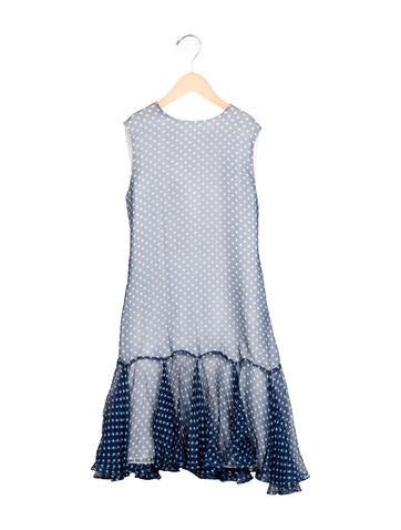 Helena Girls' Polka Dot Flounce Dress