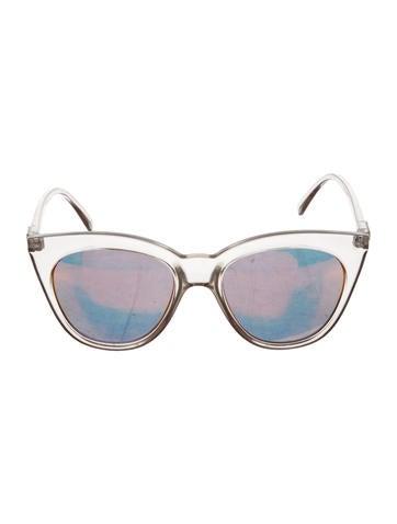 Le Specs Halfmoon Magic Mirrored Sunglasses None