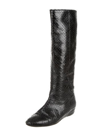 Tall Embossed Boots