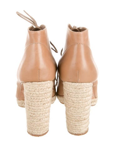 Leather Lace-Up Booties