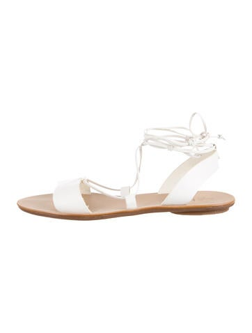 Leather Lace-Up Sandals