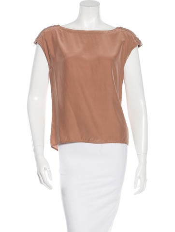 Loeffler Randall Silk Cutout Top None