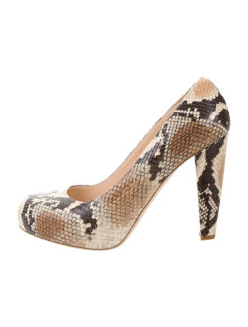 Loeffler Randall Embossed Round-Toe Pumps None