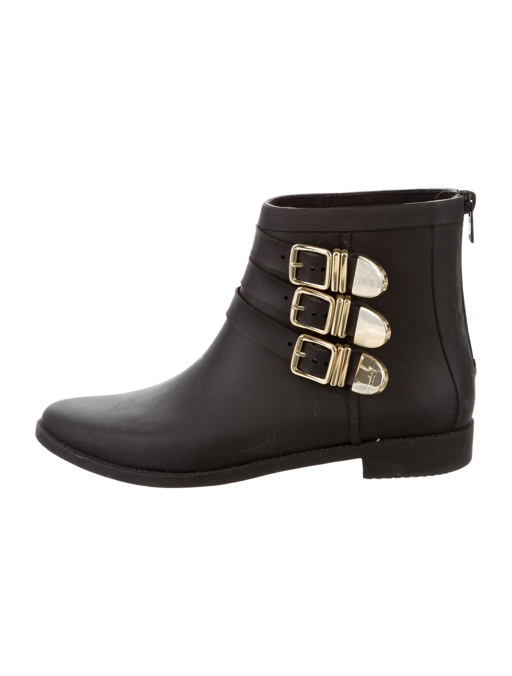 loeffler randall fenton buckle embellished ankle boots