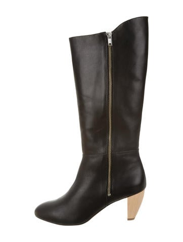 Loeffler Randall Leather Knee-High Boots None