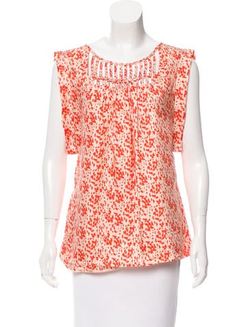 Loeffler Randall Silk Printed Top None