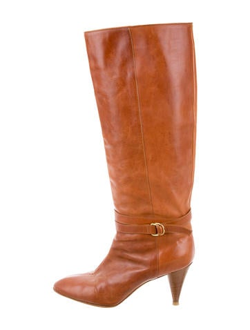 Loeffler Randall Leather Riding Boots None
