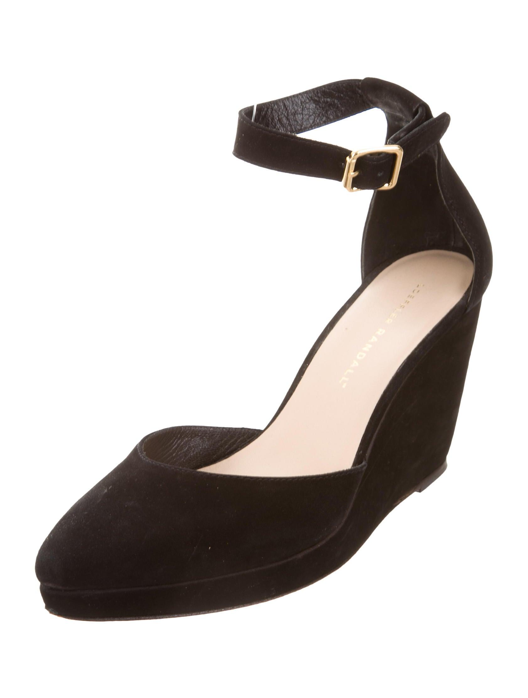 loeffler randall pointed toe wedge pumps shoes