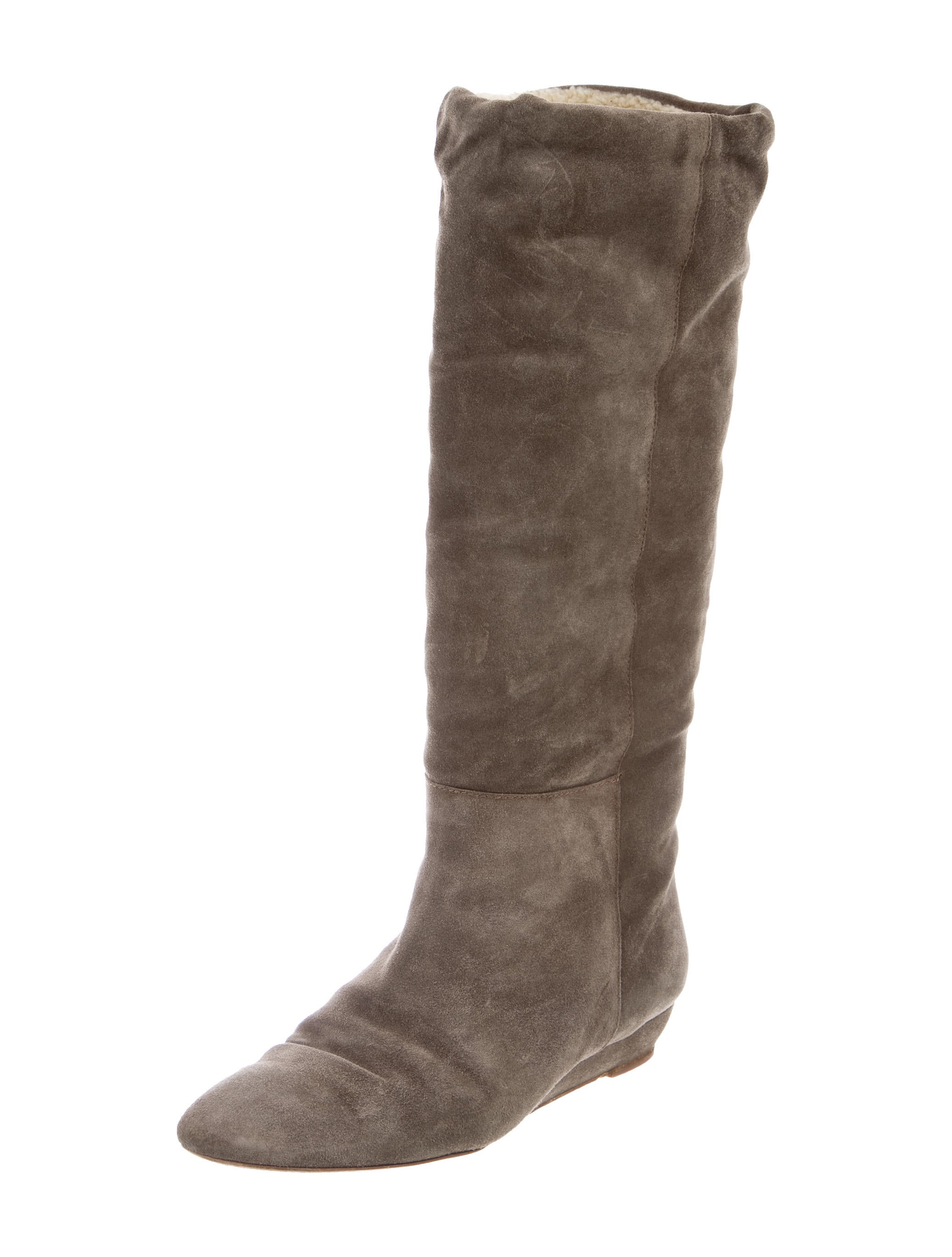 loeffler randall shearling wedge boots shoes wlf25276