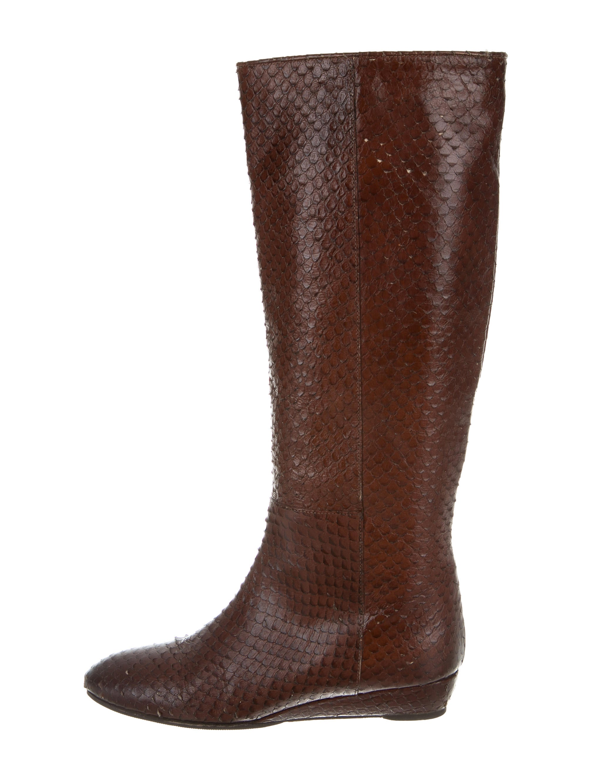 loeffler randall snakeskin knee high boots shoes