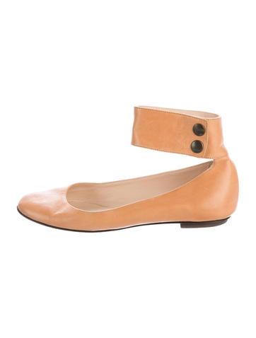 Loeffler Randall Leather Round-Toe Flats None