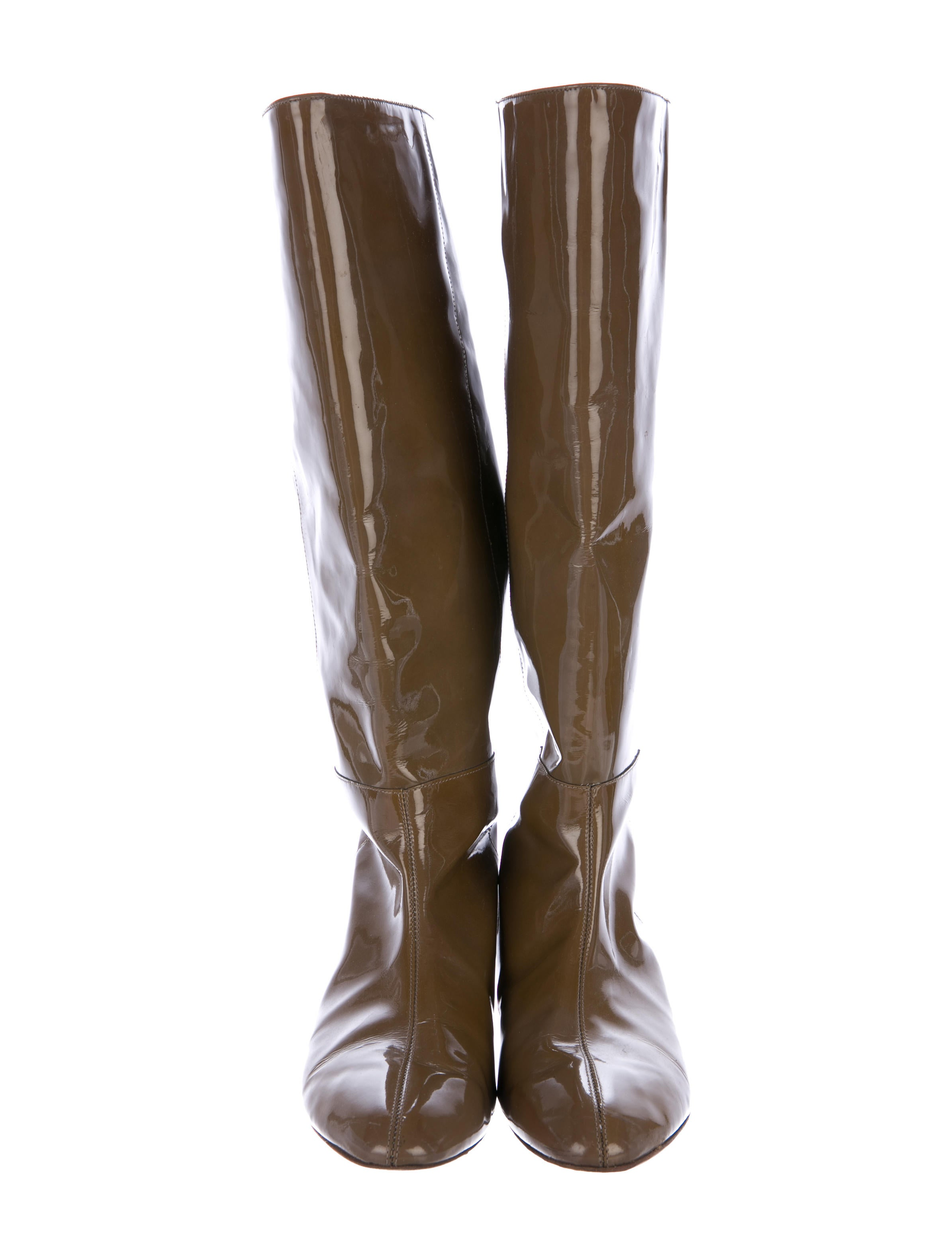 loeffler randall patent leather wedge boots shoes