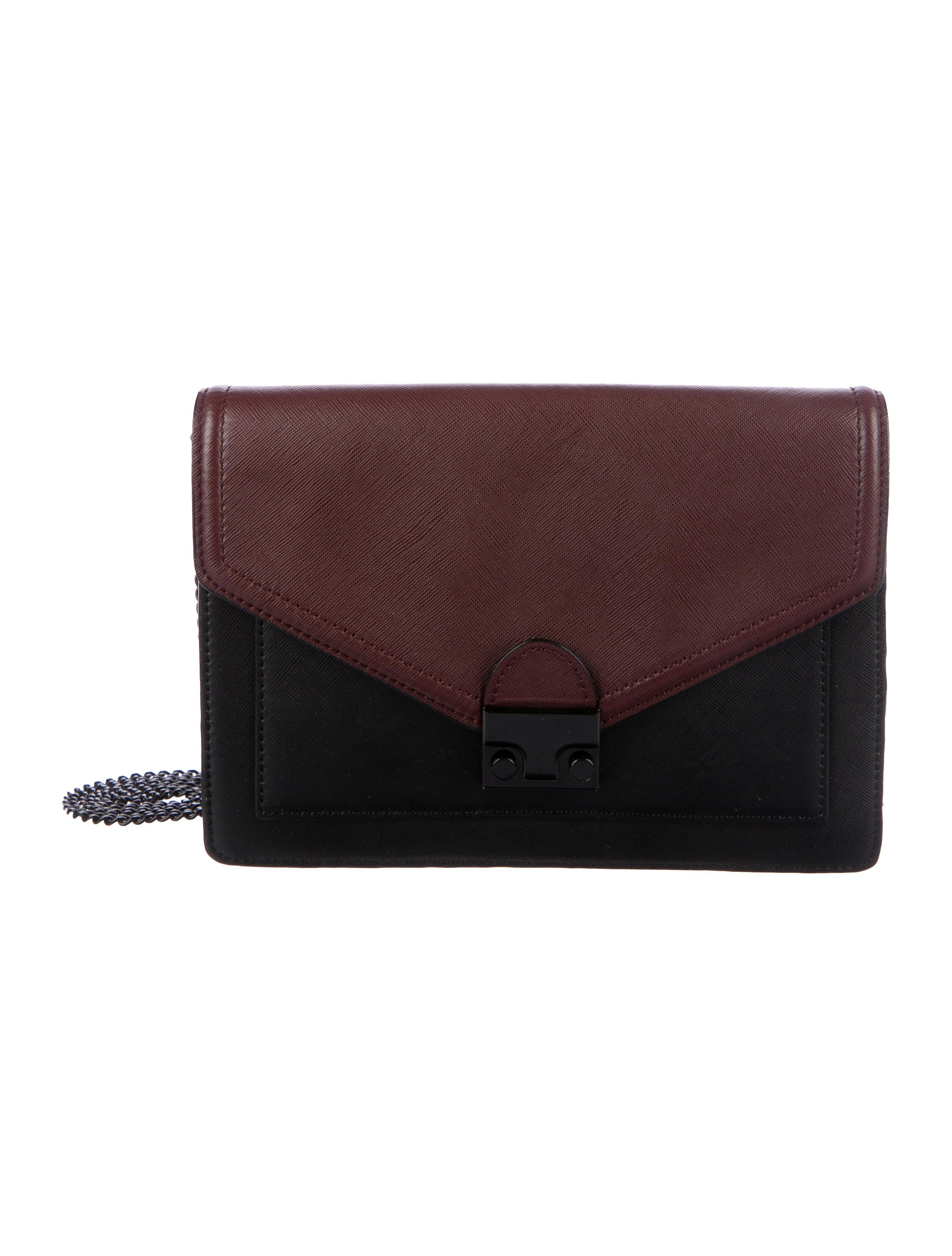 loeffler randall leather junior lock crossbody bag