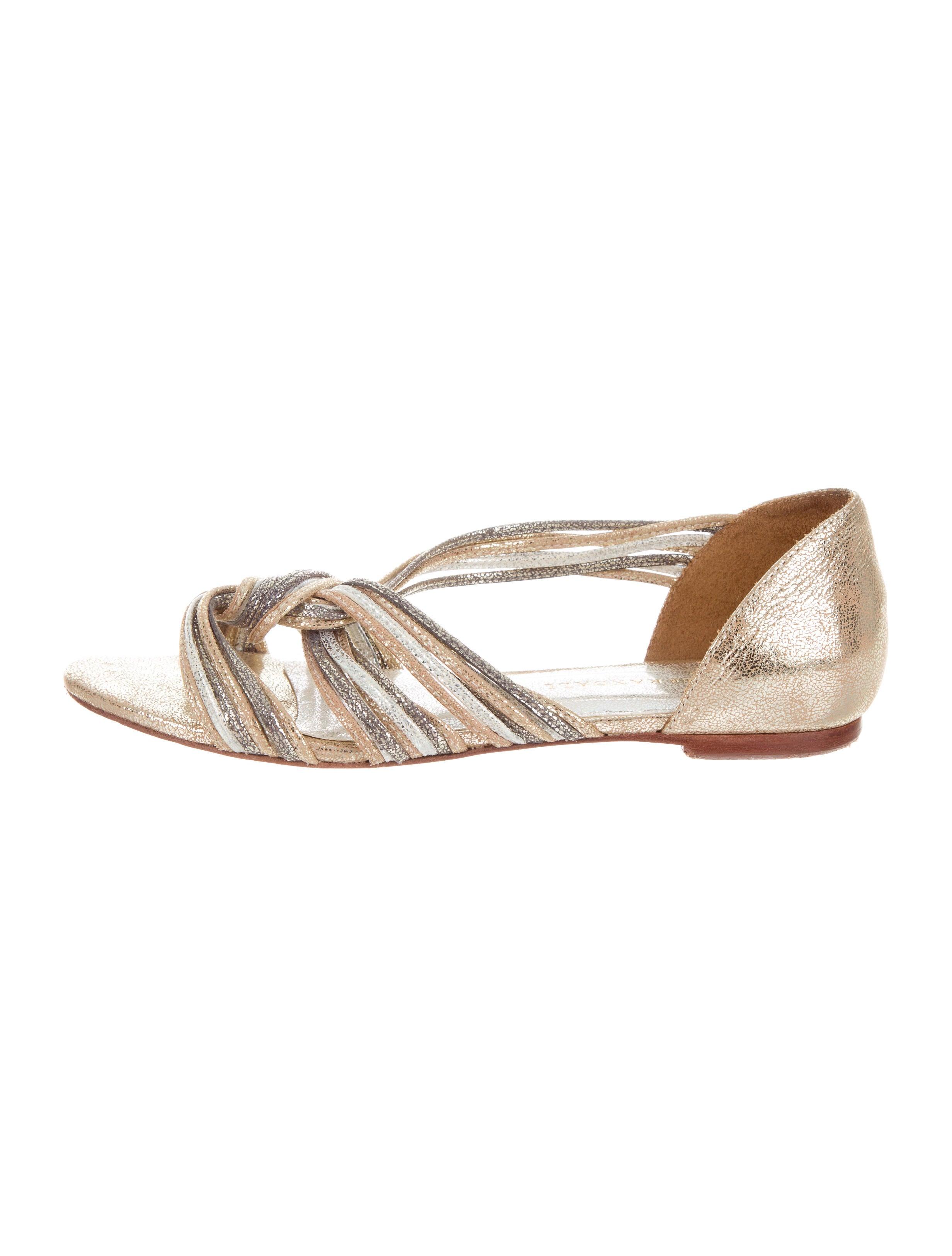 sale deals choice sale online Loeffler Randall Metallic Multistrap Sandals 42KBrB9Zb