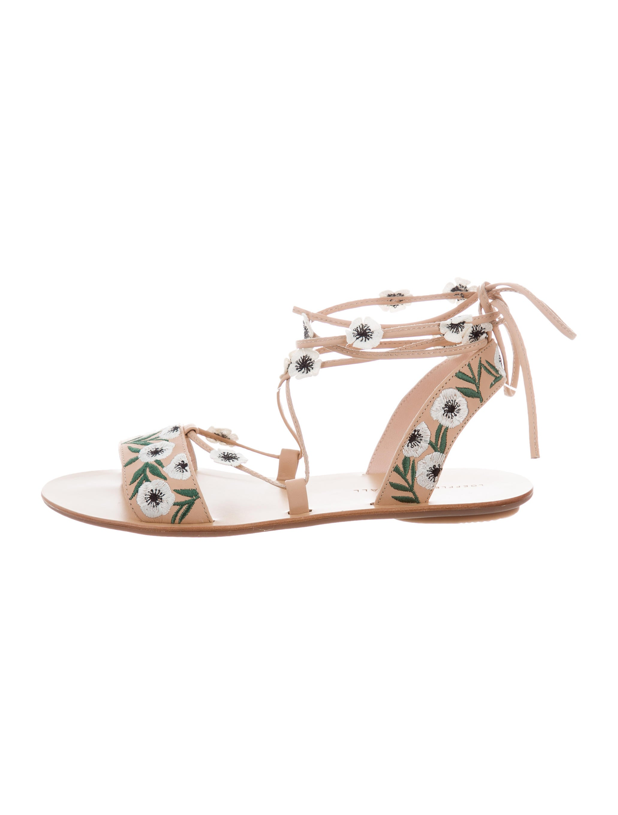 Loeffler Randall Fleura Lace-Up Sandals w/ Tags reliable for sale zl31Qk