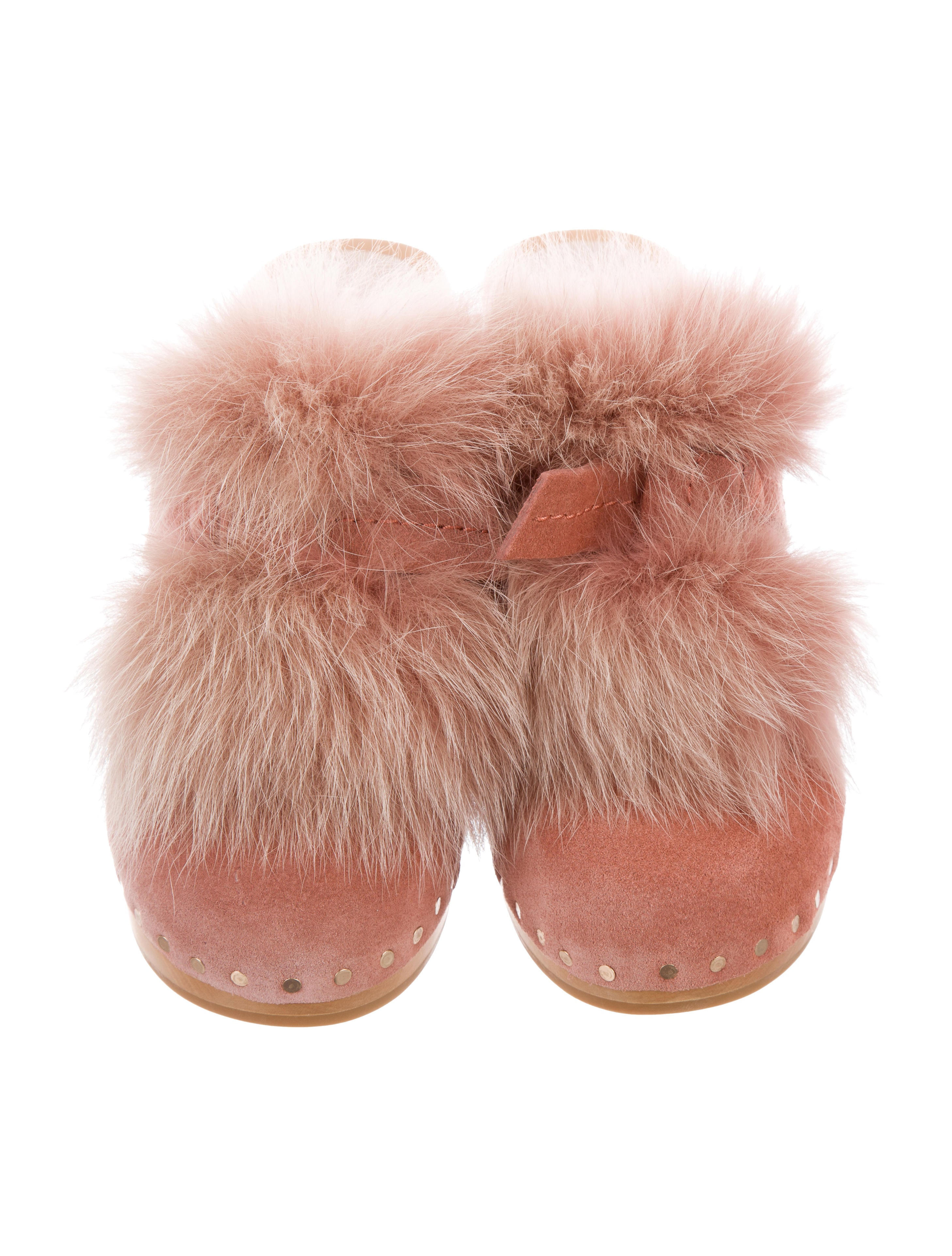 pre order for sale outlet comfortable Loeffler Randall 2017 Phillips Fox Fur-Trimmed Clogs w/ Tags new arrival online bbhKUTeN