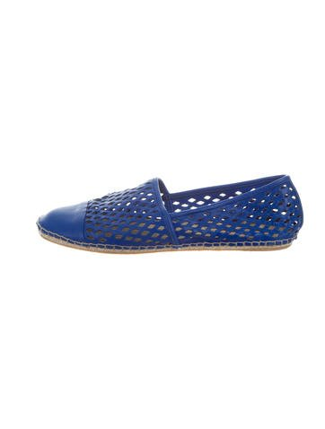 Loeffler Randall Cutout Leather Espadrilles None