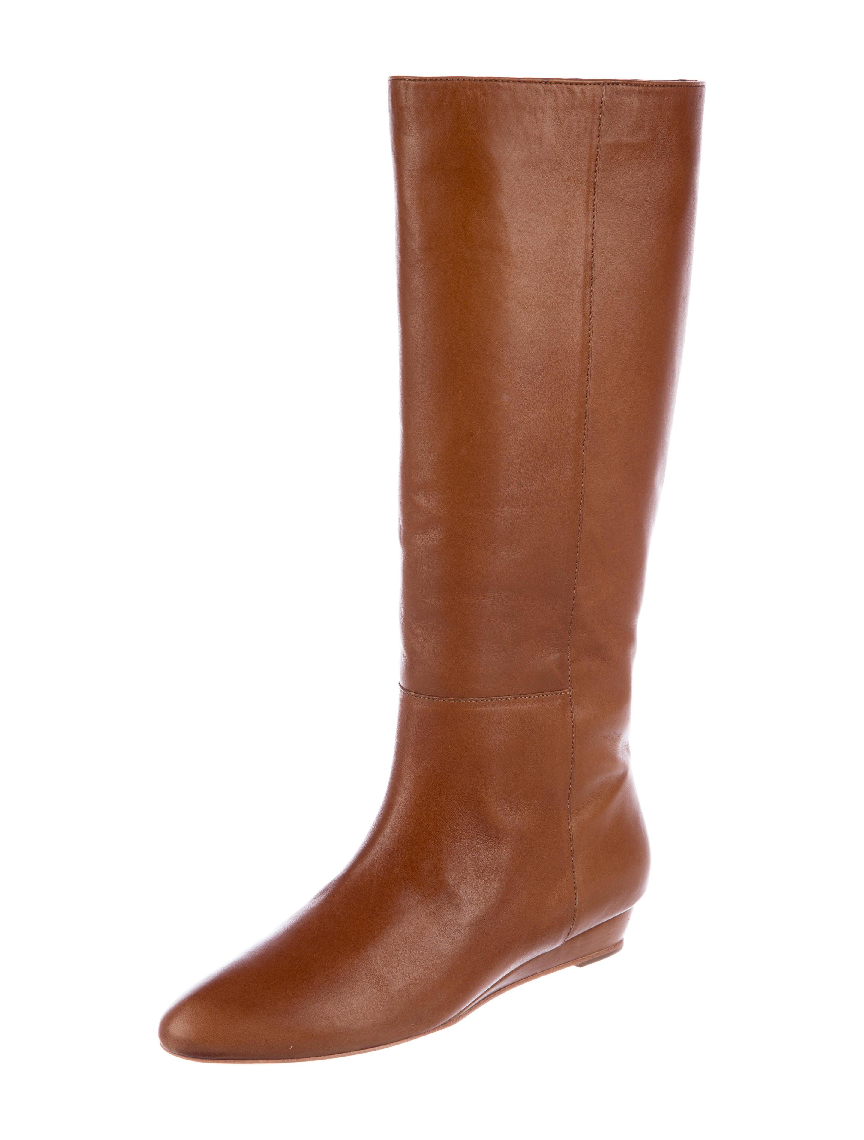 Loeffler Randall Leather Round-Toe Knee-High Boots cheap 100% original discount footlocker finishline 7i9wD