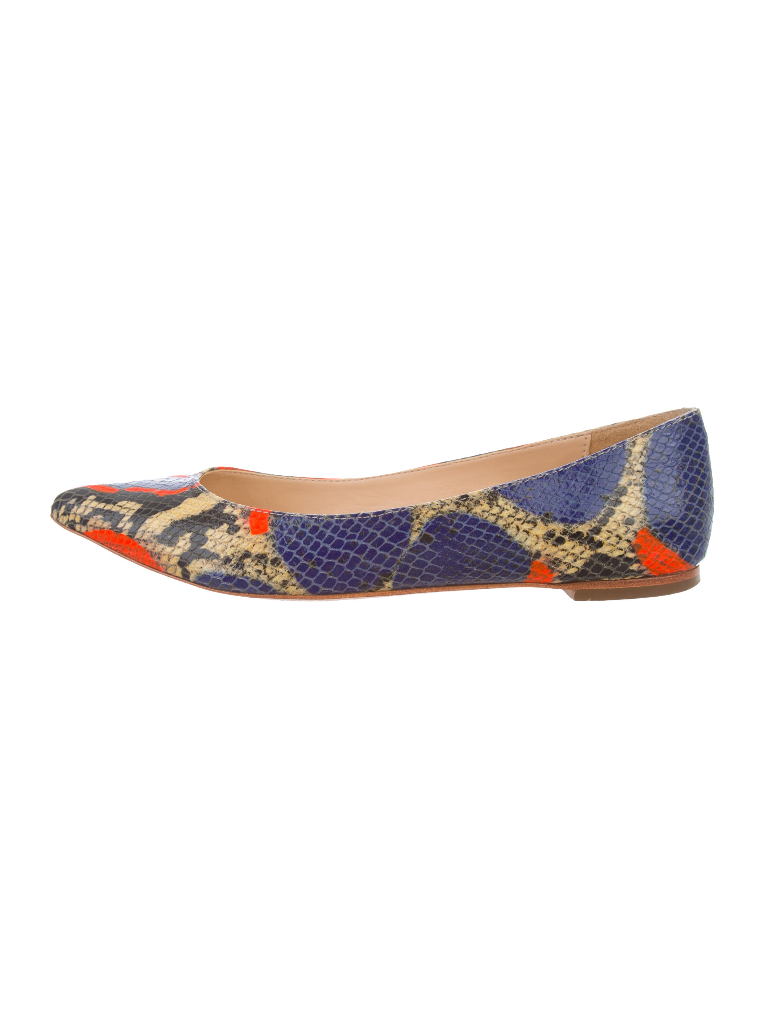view cheap online Loeffler Randall Printed Embossed Leather Flats free shipping comfortable QxrwpL