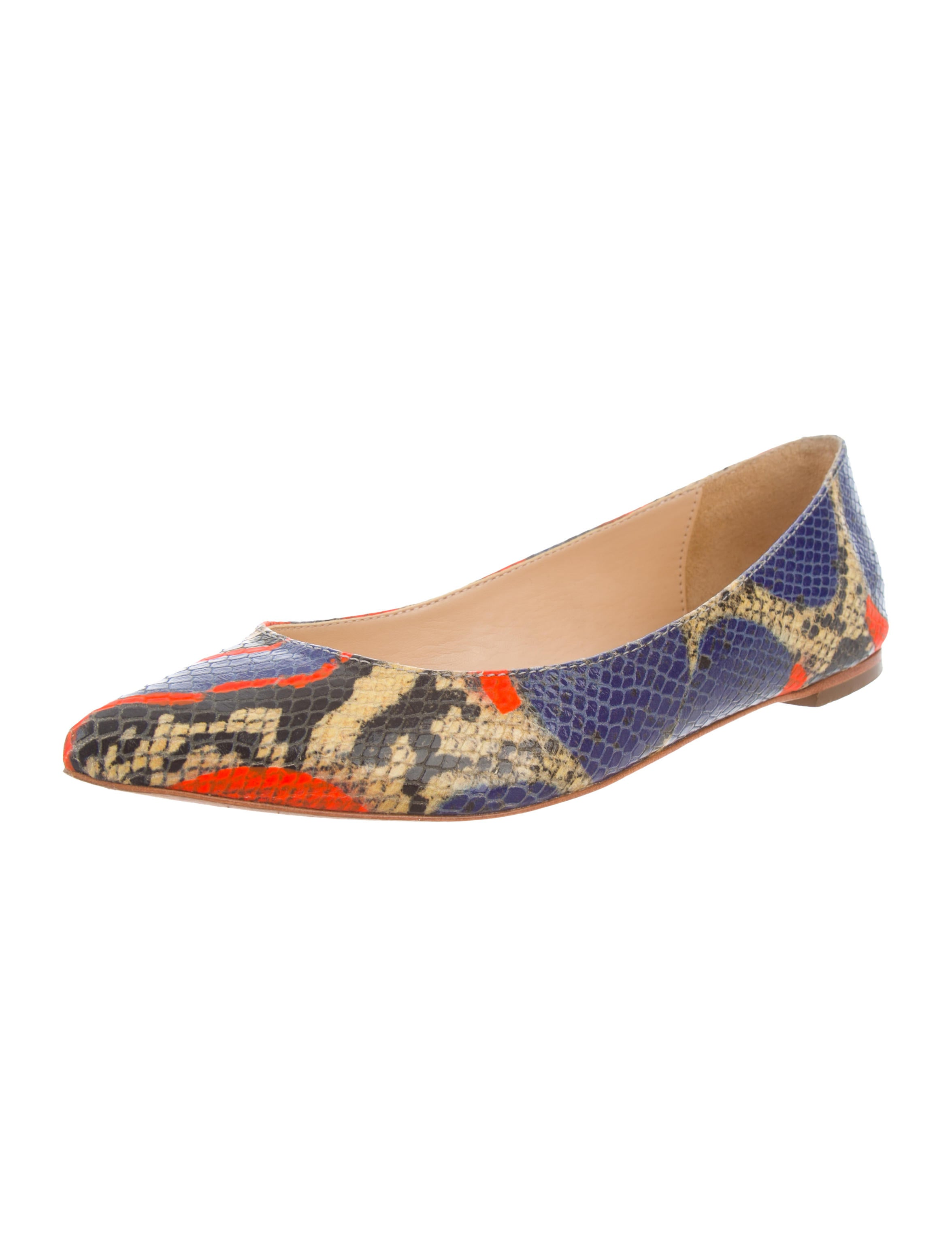 buy cheap discount cheap sale professional Loeffler Randall Printed Embossed Leather Flats collections cheap price QBj7n6