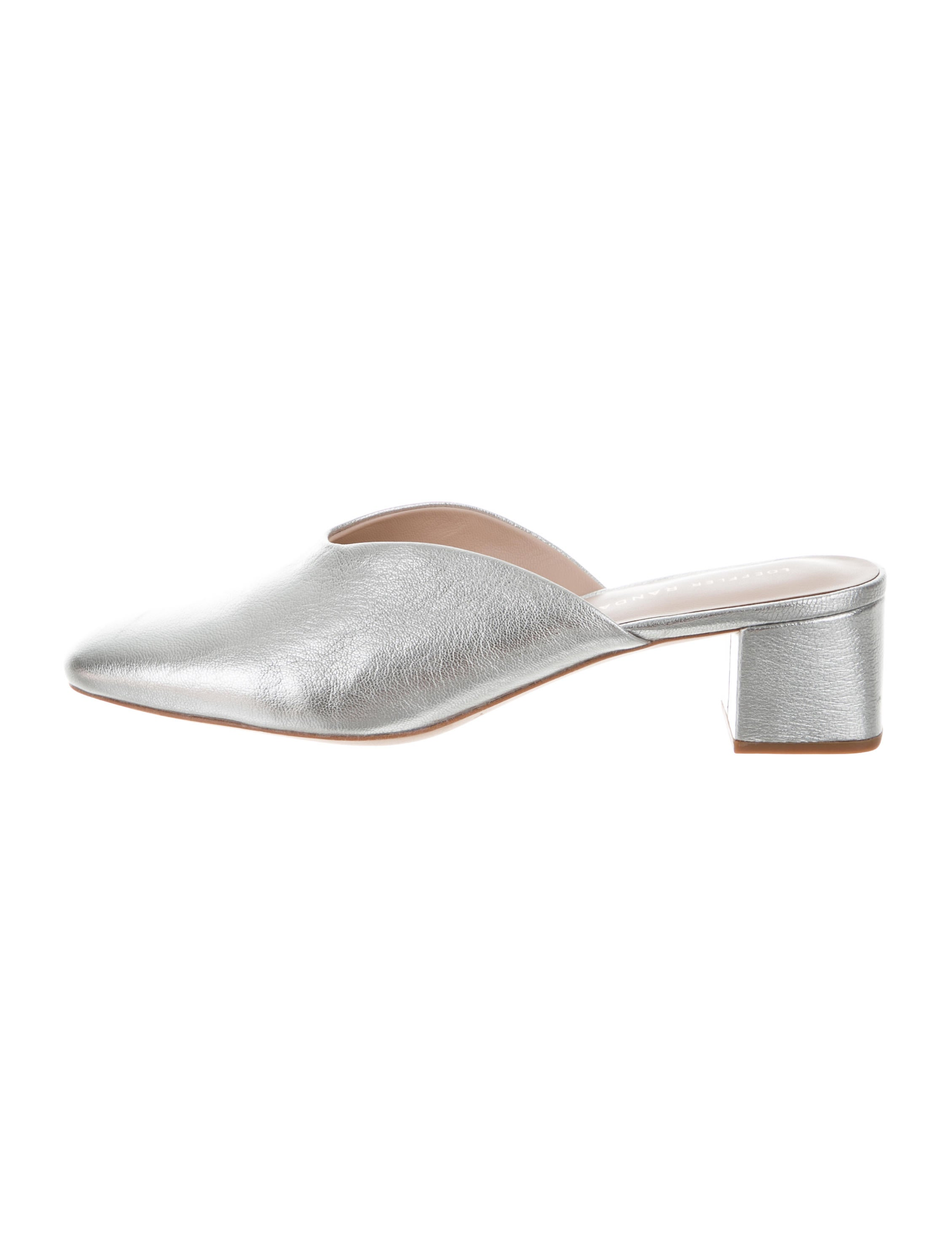 100% authentic online discount looking for Loeffler Randall Metallic Round-Toe Mules XV16njj