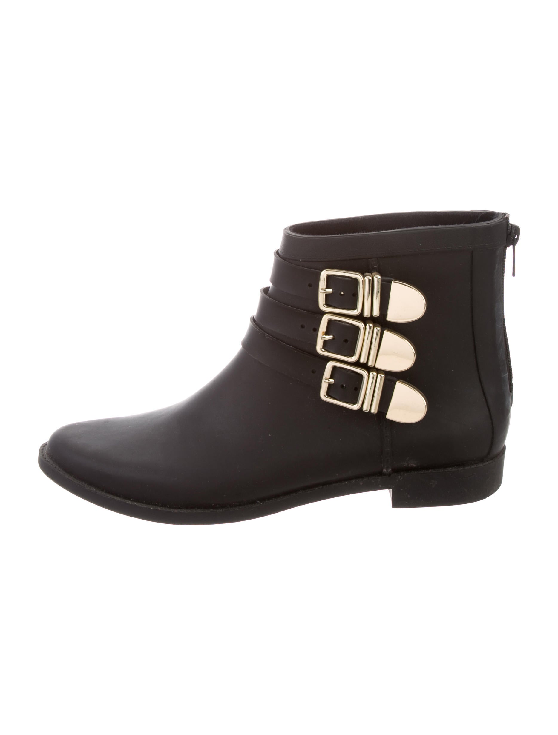 Loeffler Randall Buckle-Accented Rain Boots outlet ebay pictures cheap online free shipping many kinds of shop offer PCJUlegXbn