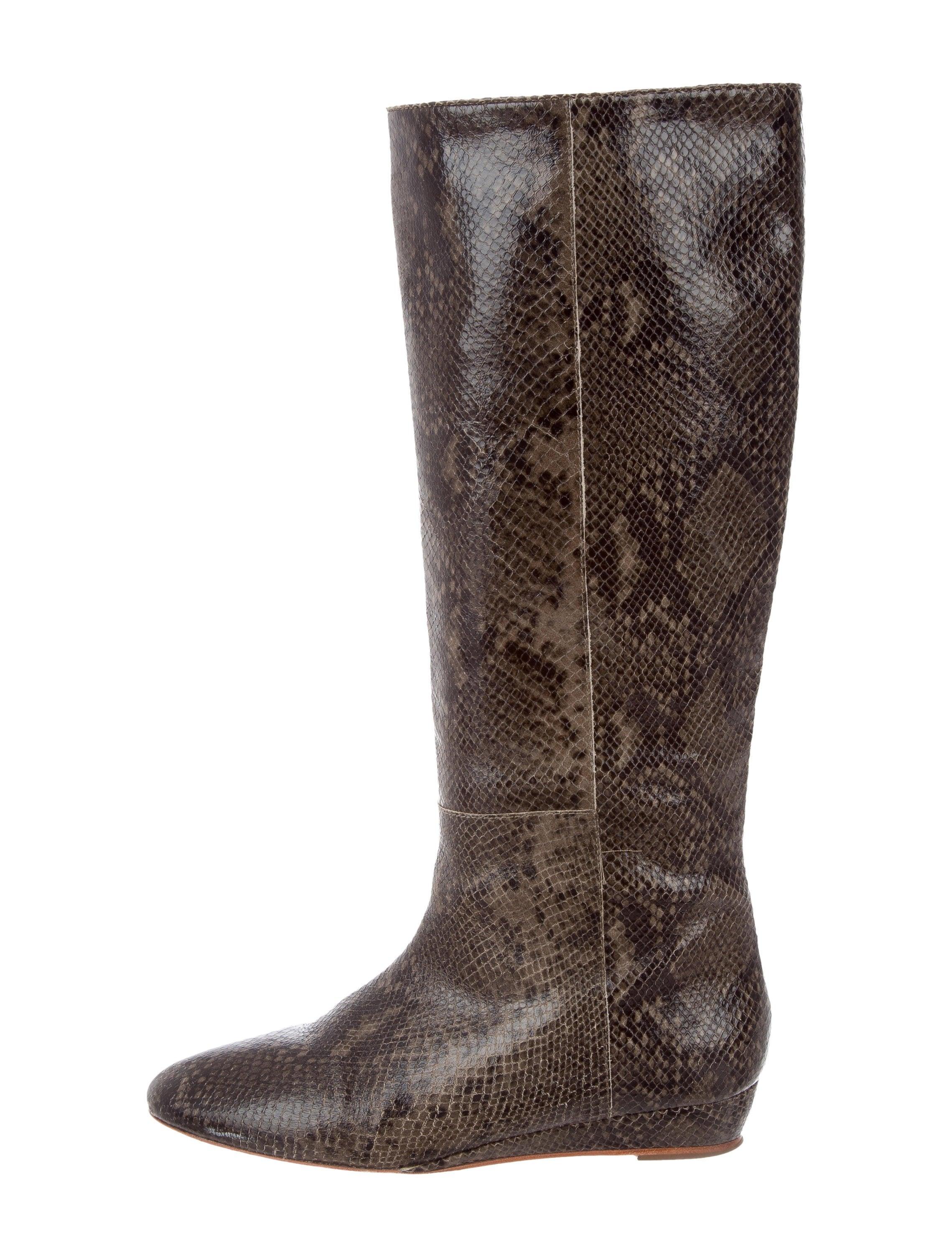 Loeffler Randall Embossed Wedge Boots free shipping sast latest cheap online GgLSLKG8