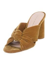 Coco Velvet Slide Sandals image 2