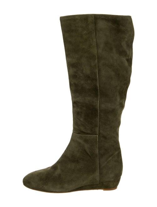 Loeffler Randall Suede Boots Green