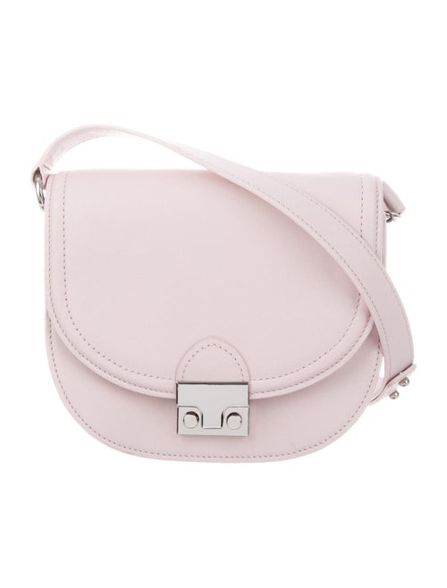 Loeffler Randall Leather Saddle Bag Pink