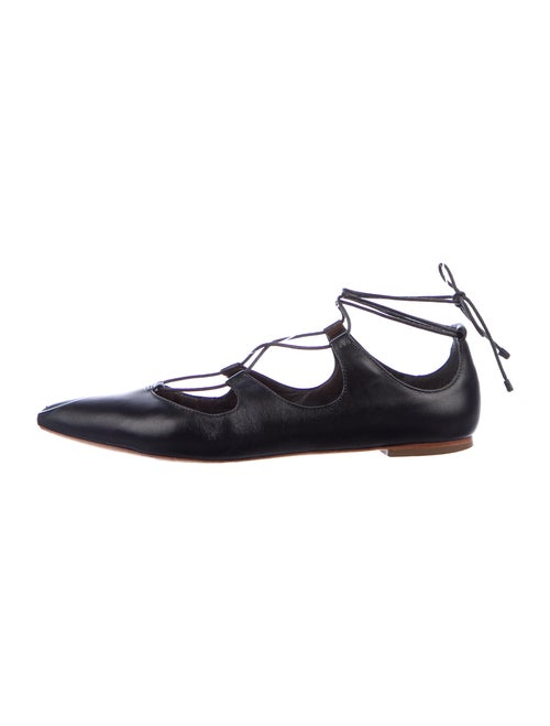 Loeffler Randall Leather Flats Black