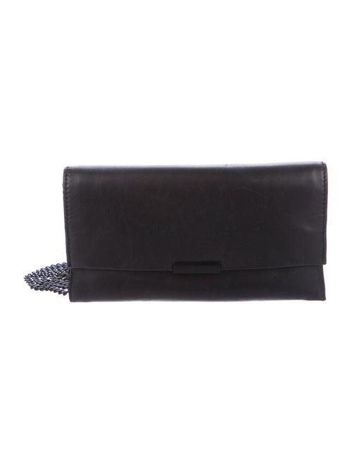 Loeffler Randall Leather Tab Crossbody Bag Black