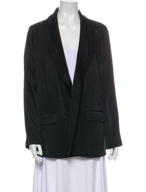 Loeffler Randall Silk Blazer Black