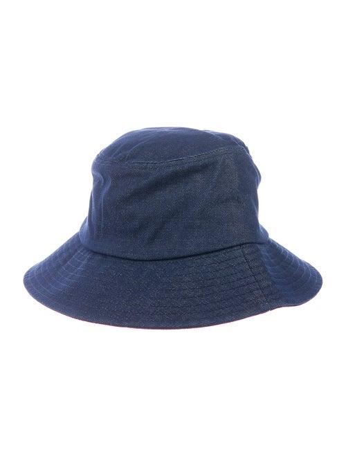 Loeffler Randall Denim Bucket Hat w/ Tags denim