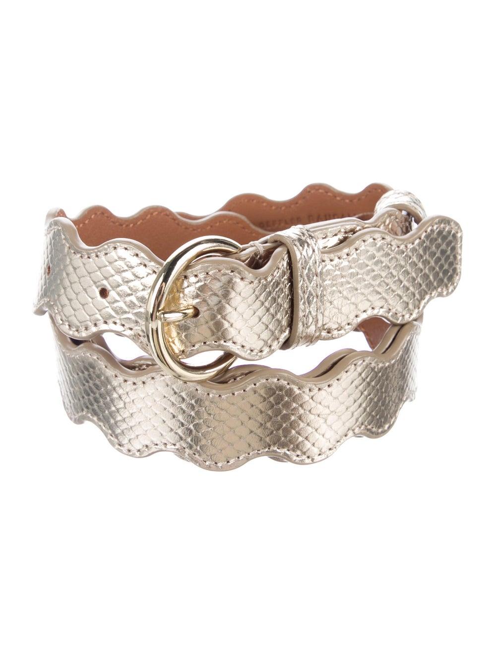 Loeffler Randall Leather Belt Gold - image 1