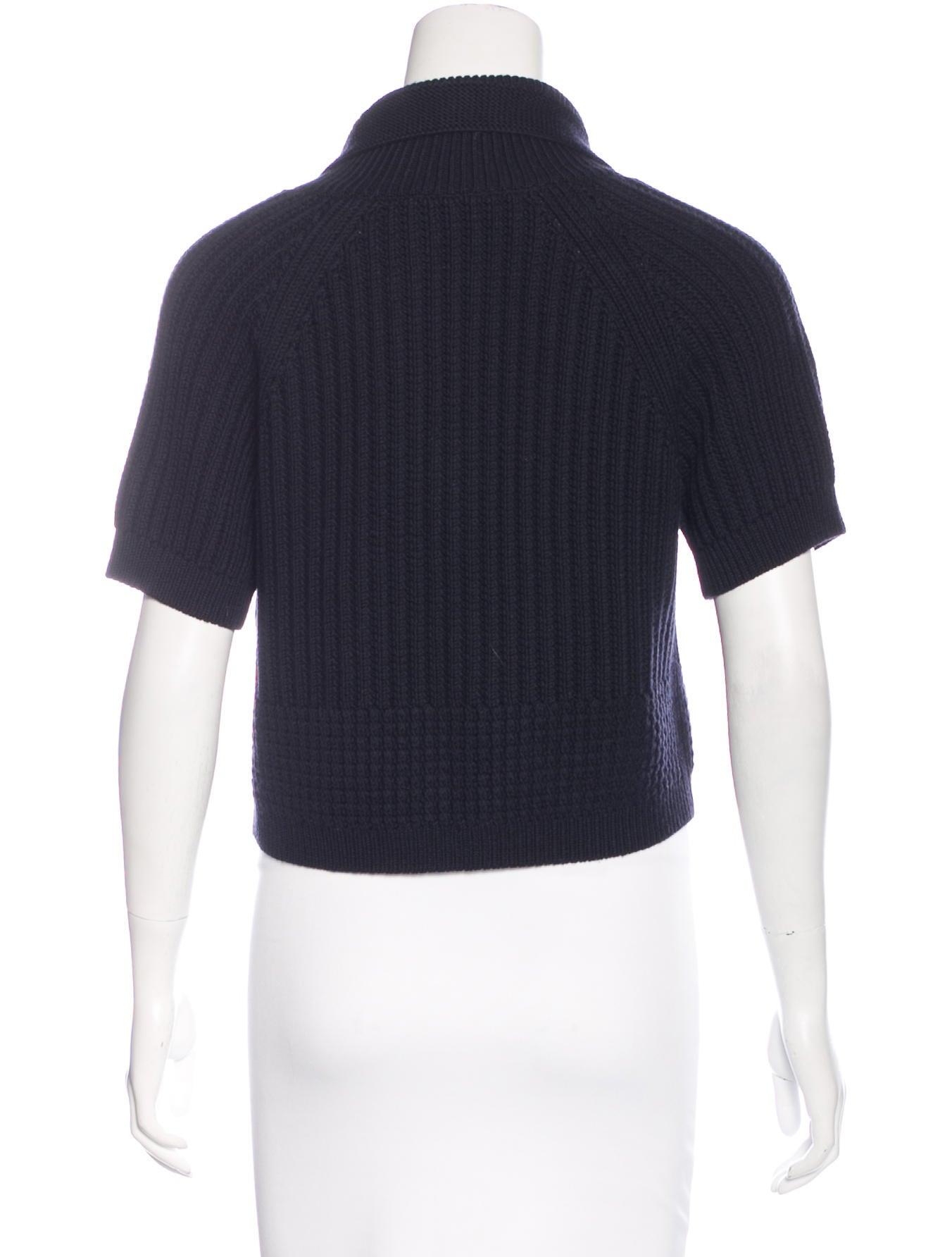 Wool Cropped Cardigan 72