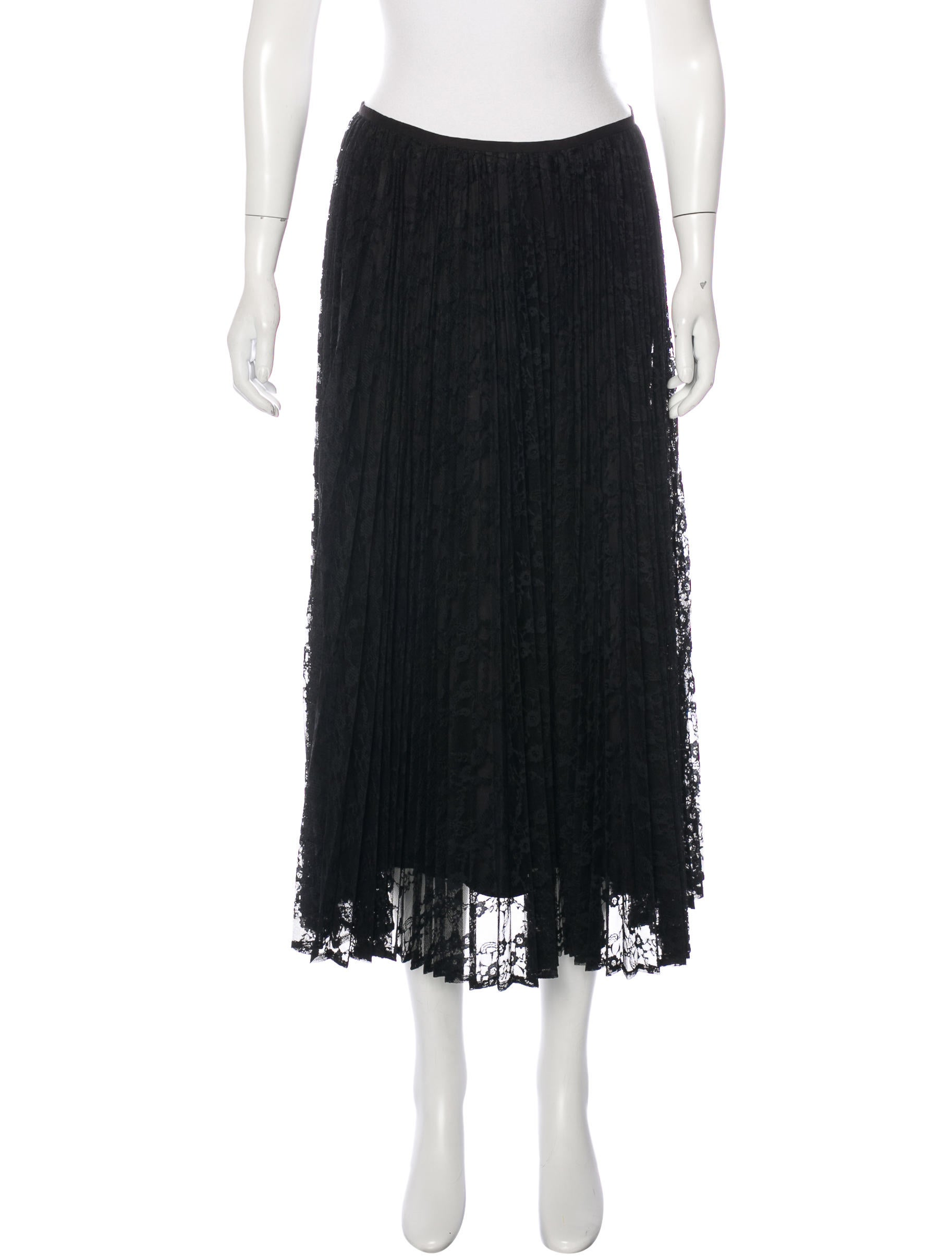 lafayette 148 pleated lace skirt w tags clothing