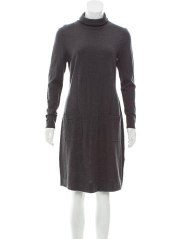 Lafayette 148 Wool Sweater Dress None