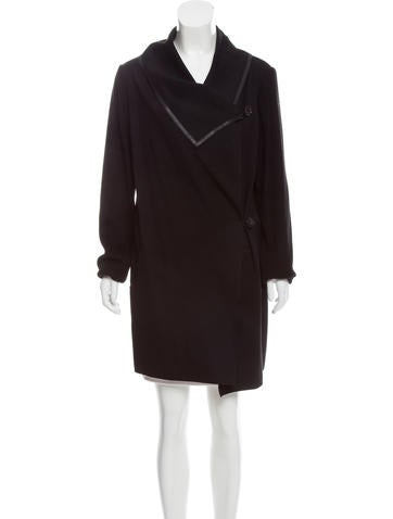 Lafayette 148 Wool-Accented Knee-Length Coat None
