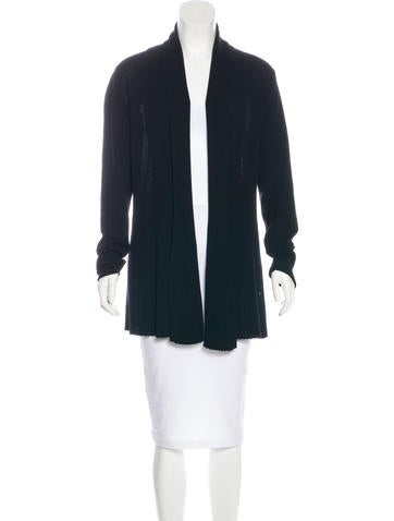 Lafayette 148 Rib Knit Open-Front Cardigan None