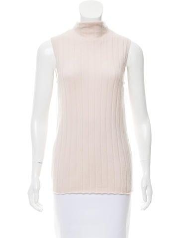 Lafayette 148 Rib-Knit Sleeveless Sweater None