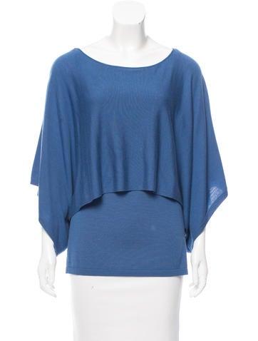 Lafayette 148 Draped Wool Sweater None