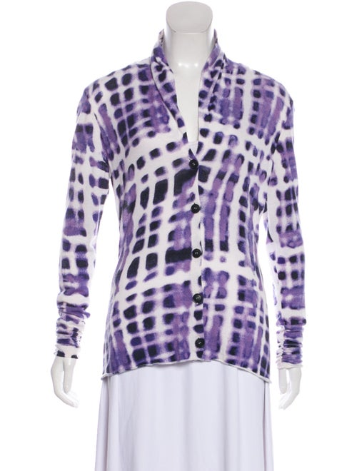 Lafayette 148 Tie-Dye Print V-Neck Sweater