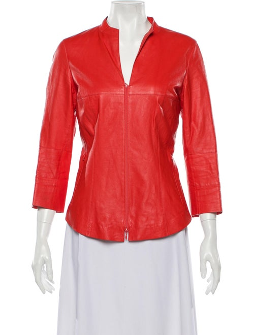 Lafayette 148 Leather Jacket Pink