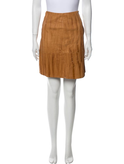 Lafayette 148 Suede Mini Skirt