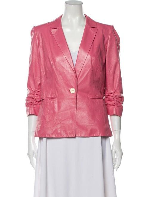 Lafayette 148 Leather Blazer Pink