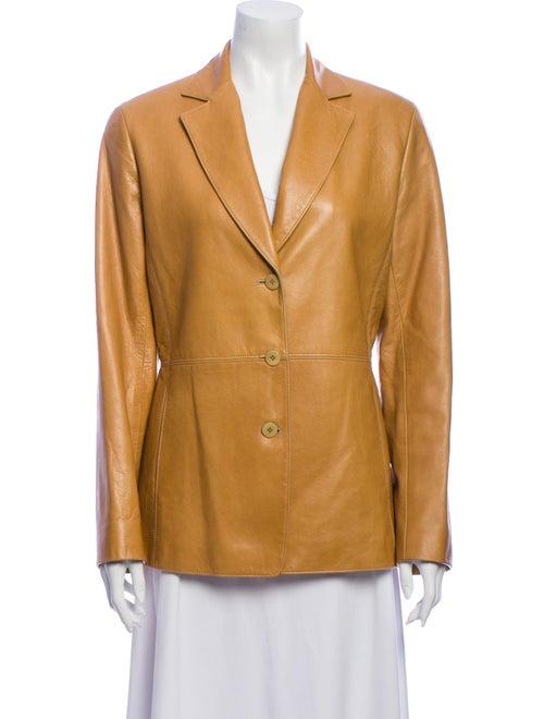 Lafayette 148 Leather Blazer
