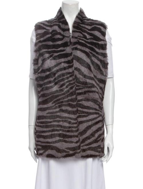 Lafayette 148 Animal Print Vest Grey